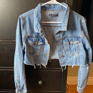 Brandy Melville Cropped Denim Jacket